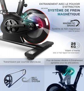 Sportstech SX600 vélo Appartement