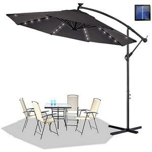 Test et avis sur le parasol déporté avec LED Hengmei